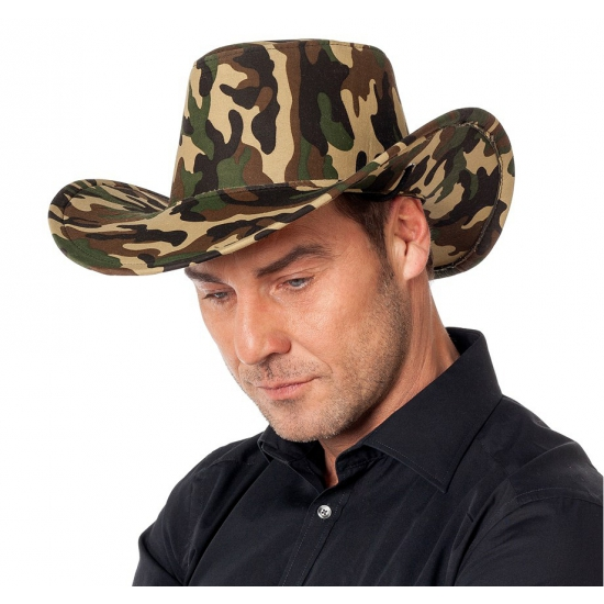 Camouflage cowboy hoed voor heren