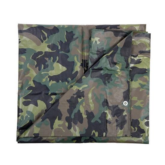 Camouflage dekzeil groen 3 x 3 80 meter