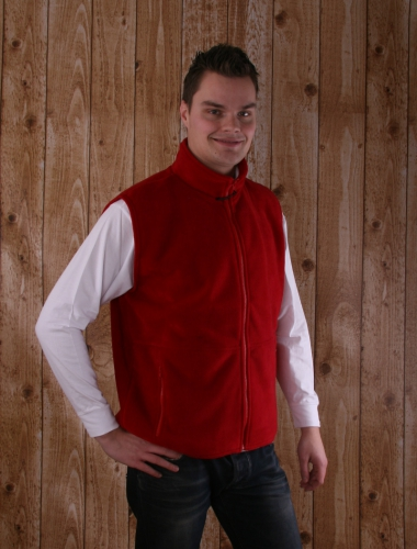 Camping fleece bodywarmer voor heren