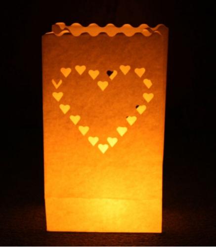 Candle Bag set Hart 26 cm