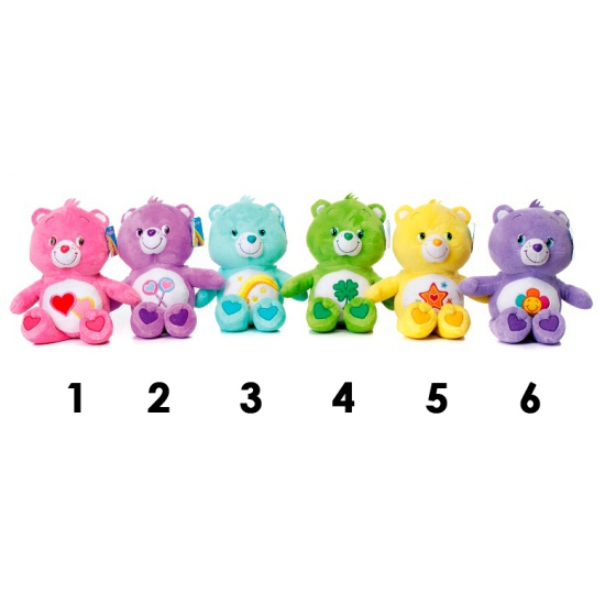 Care Bear knuffel paars 33 cm