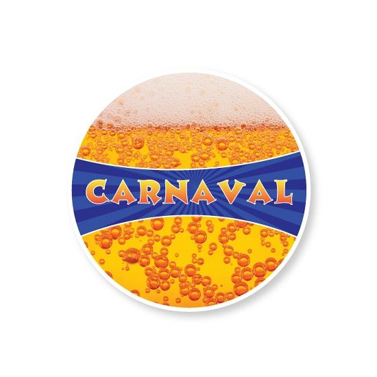 Carnaval bierviltjes met bier print