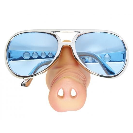 Carnaval bril met varkensneus