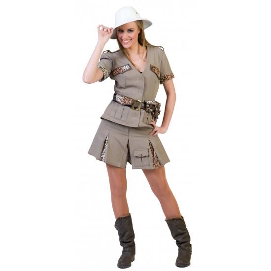 Carnaval dames kostuum safari