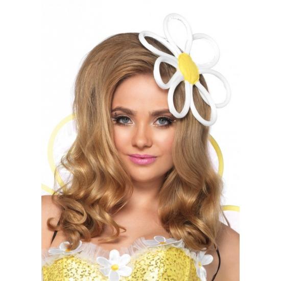 Carnaval haar decoratie bloem op klem