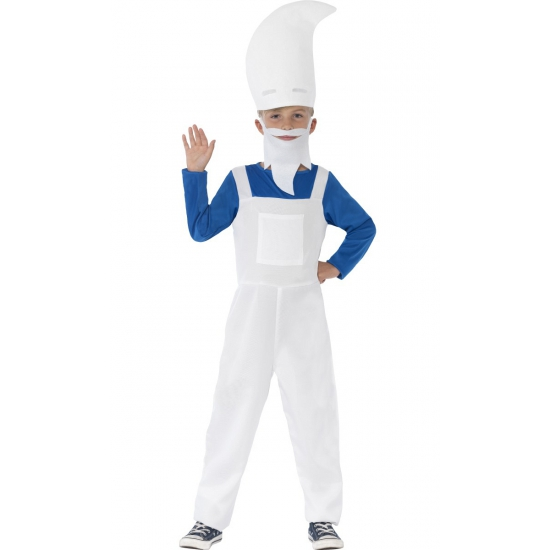 Carnavalskleding blauwe kabouter voor kids