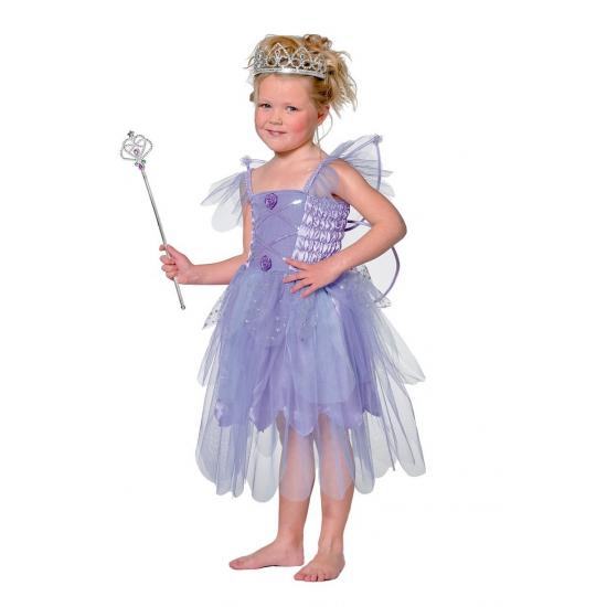 Carnavalskleding elf in de kleur paars