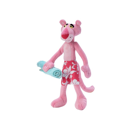Cartoon knuffel Pink Panther in zwembroek