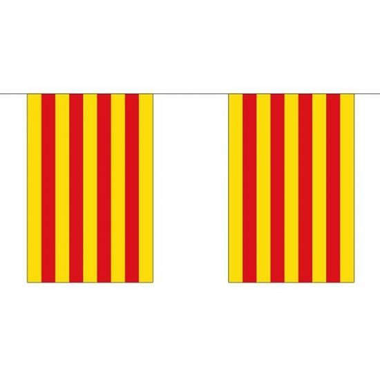 Catalaanse vlaggenlijn van stof 3 m