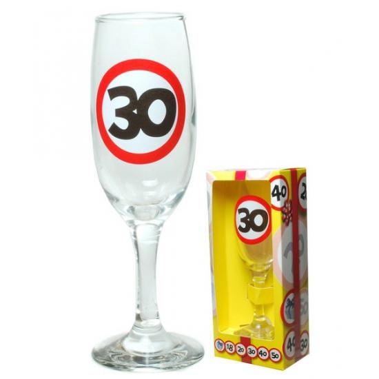 Champagne glas 30 jaar in gift box