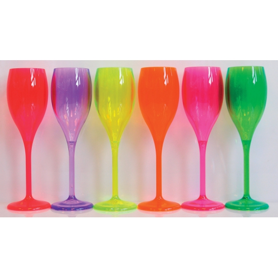 Champagne glas neon geel