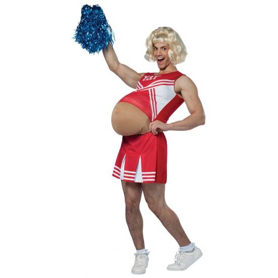 Cheerleader zwanger volwassenen kostuum