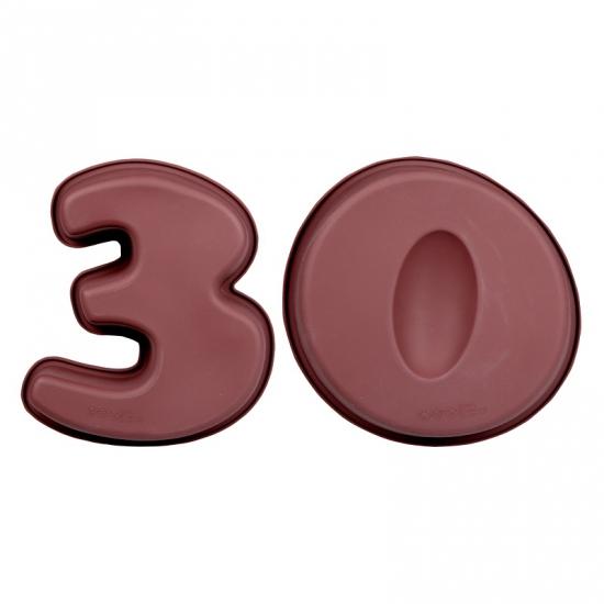 Cijfer bakvormen dertig