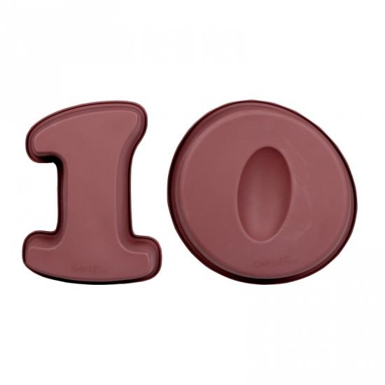 Cijfer bakvormen tien