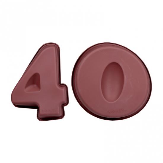 Cijfer bakvormen veertig