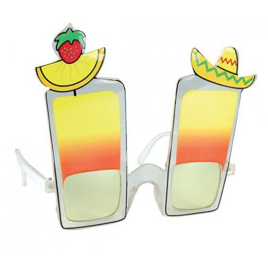 Cocktail brillen tropisch thema feest