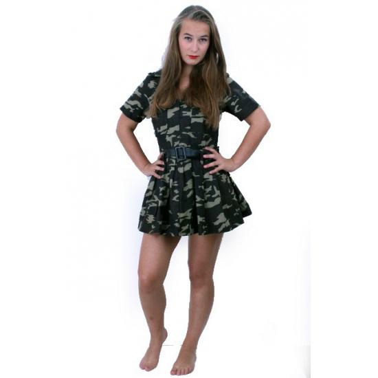 Commando camouflage jurk