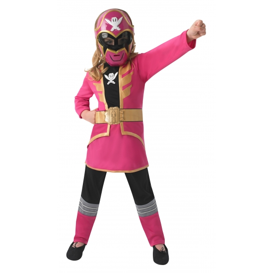 Compleet Power Ranger kostuum voor kinderen roze