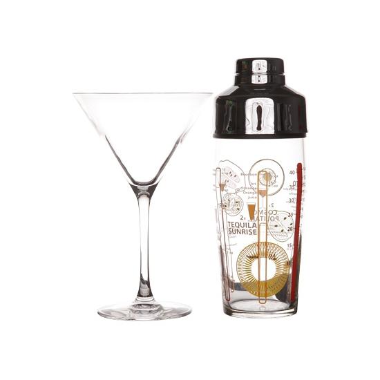 Complete cocktailset met glazen