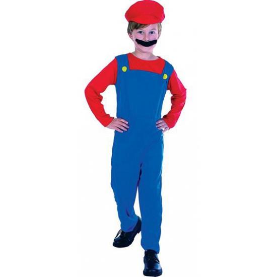 Complete Loodgieter Mario outfit voor kinderen