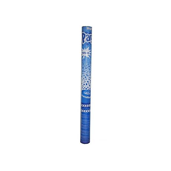 Confetti shooters blauw 60 cm