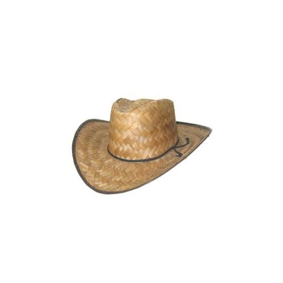 Cowboyhoed van stro voor volwassenen