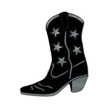 Cowboylaars Western decoratie zwart