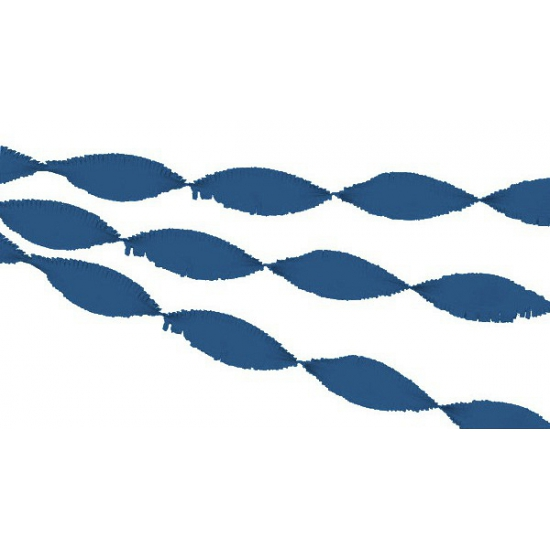Crepe papier slinger donkerblauw 30 meter