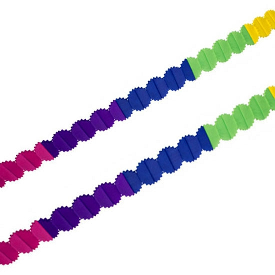 Crepepapier slinger gekleurd 6 meter