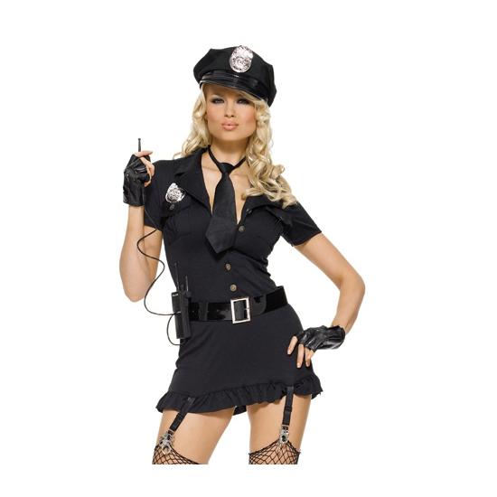Dames kostuum set sexy politie