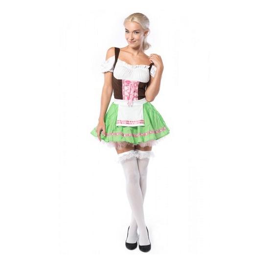 Dames Tiroler verkleedkleding groen roze