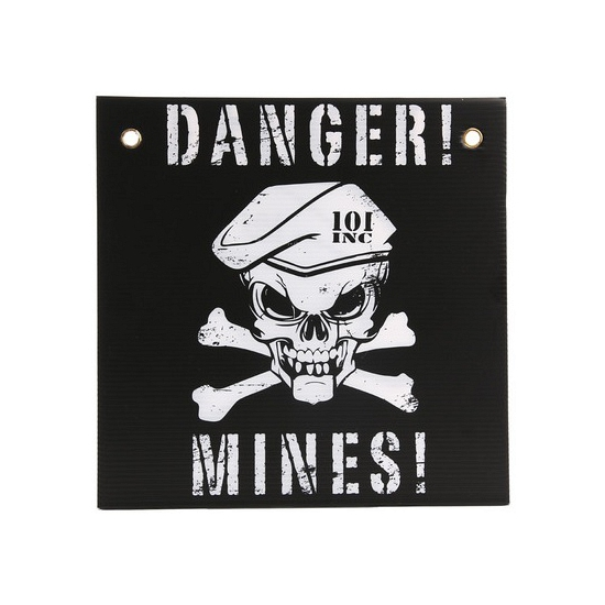 Danger mines muurplaat