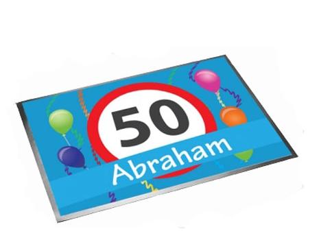 Decoratie deurmat Abraham