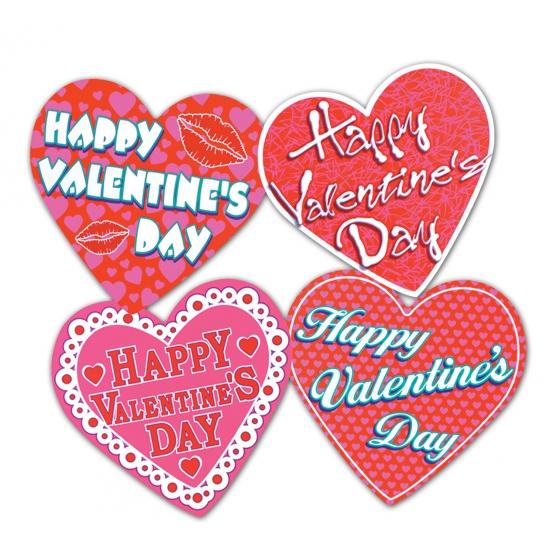 Decoratie hartjes Happy Valentines Day