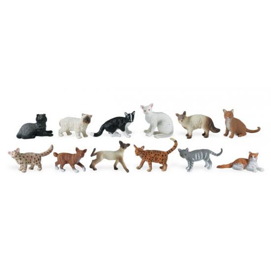Decoratie katten 12 stuks