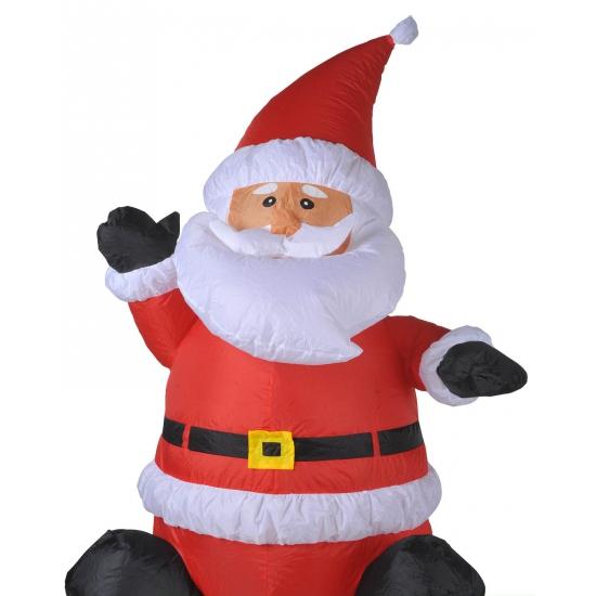 Decoratie kerstman opblaasbaar