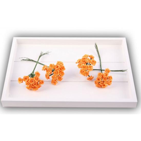 Decoratie rozen oranje 12 cm