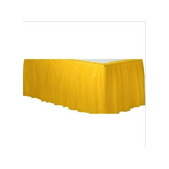 Decoratie tafekleed rand geel
