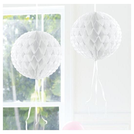 Decoratiebollen wit 30 cm