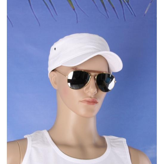 Deluxe zonnebril met zilveren glazen