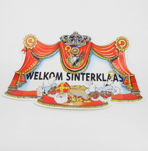 Deurbord welkom Sinterklaas en Pieten