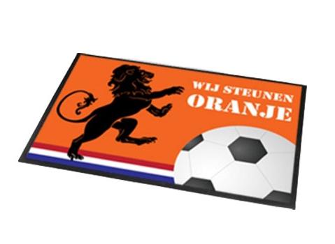 Deurmat Wij steunen Oranje 60x40 cm