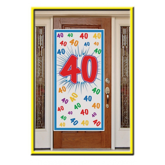 Deurposter 40 jaar