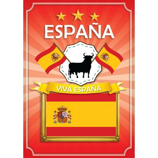 Deurposter Viva Espana rood