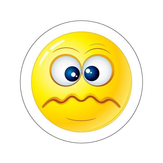 Deurstickers Smiley type 5