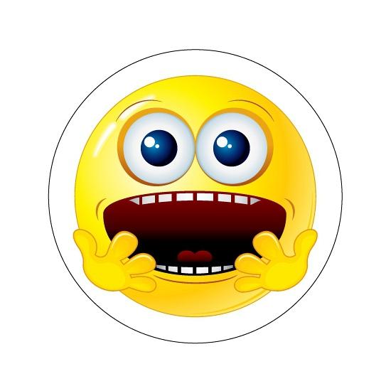 Deurstickers Smiley type 6