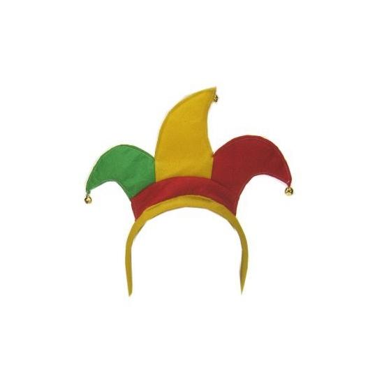Diadeem Harlekijn rood/geel/groen