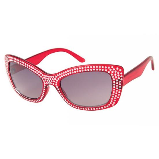 Diamond zonnebril met glitter steentjes