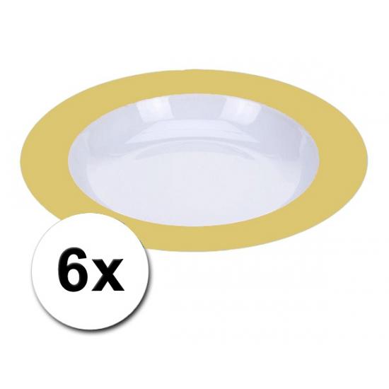Diepe gele borden onbreekbaar 6 stuks