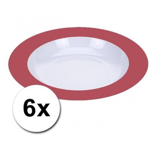 Diepe rode borden onbreekbaar 6 stuks